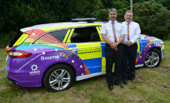 PCC and Deputy Chief Constable Launch Pride Police Car for Bourne Free 2016