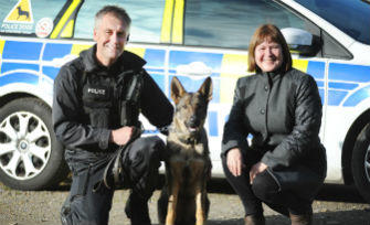 PCC THANKS CHARITY FOR SUPPORT WITH NEW POLICE DOG